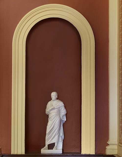 "Statue ""Aristotle"" located in library lobby, Federal Building and U.S. Courthouse, Erie, Pennsylvania"