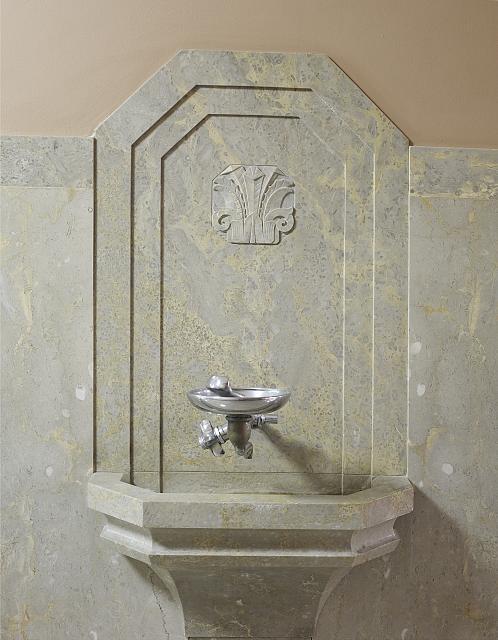 [Drinking fountain, near ground floor lobby. Library of Congress John Adams Building, Washington, D.C.]