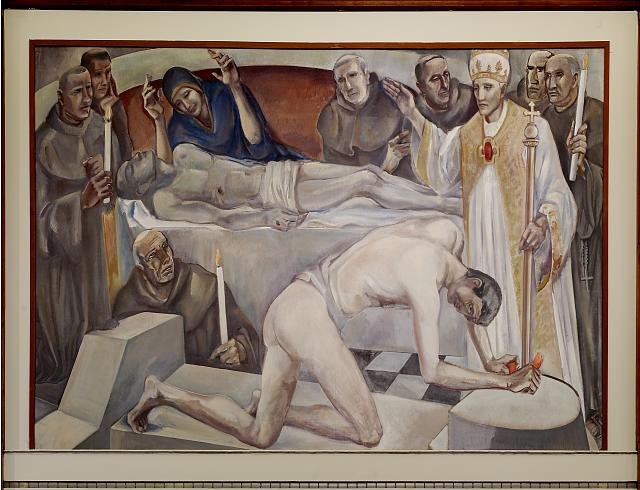 "Oil painting ""Cruelty/Ordeal"" located in fifth floor, main library, Department of Justice, Washington, D.C."