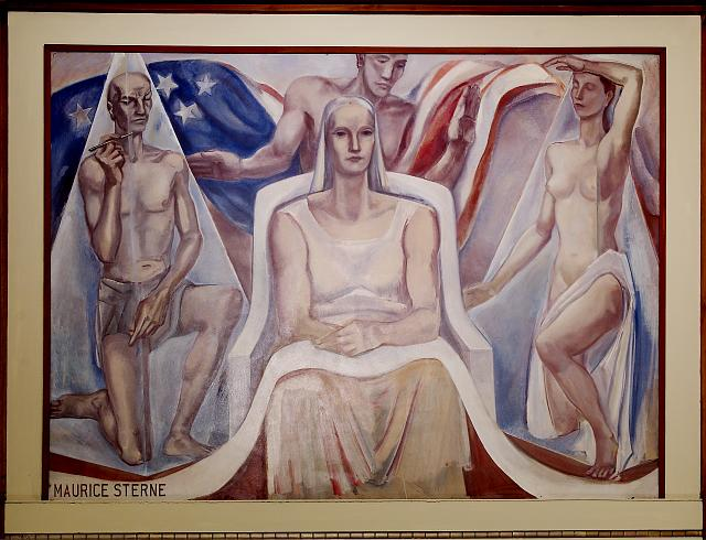 "Oil painting ""Continuity of the Law"" located in fifth floor, main library, Department of Justice, Washington, D.C."