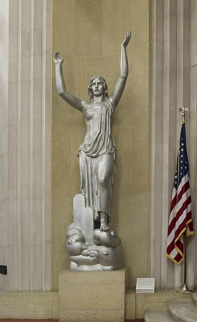 "Sculpture ""Spirit of Justice"" Great Hall, 2nd floor, Department of Justice, Washington, D.C."
