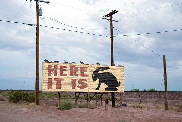 Here it is! Jackrabbit Trading Post, Route 66, Joseph City, Arizona