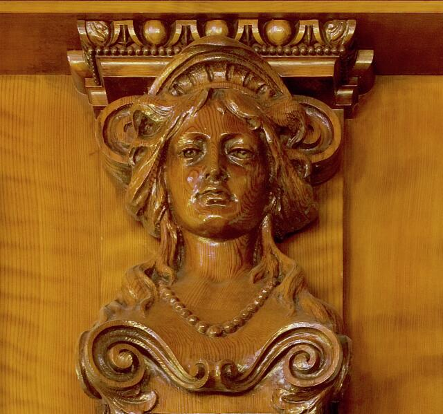 Wood detail, James R. Browning U.S. Courthouse, San Francisco, California