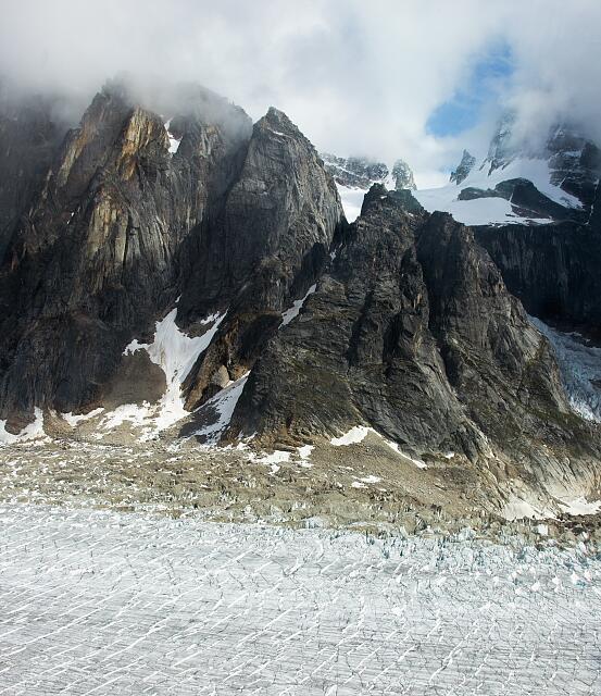 Alpine spires, Ruth Gorge, Denali National Park, Alaska
