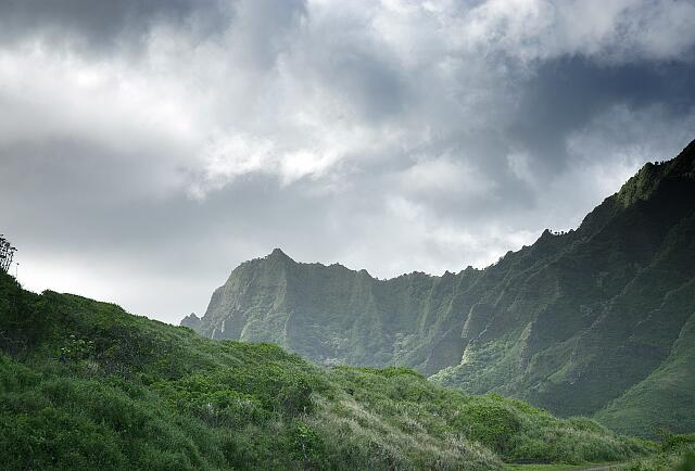 Storm in the mountains, Hawaii