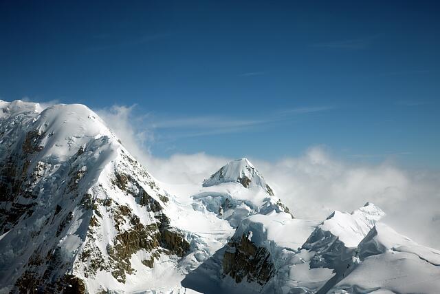 Mount McKinley and other rugged peaks, Denali National Park, Alaska