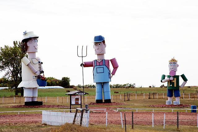 """The Tin Family,"" Enchanted Highway, Regent, North Dakota"
