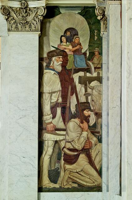Mural, Birch Bayh Federal Building, Indianapolis, Indiana
