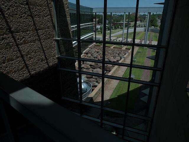 "Architectural art ""Foundation"" at Federal Building, Oklahoma City, Oklahoma"