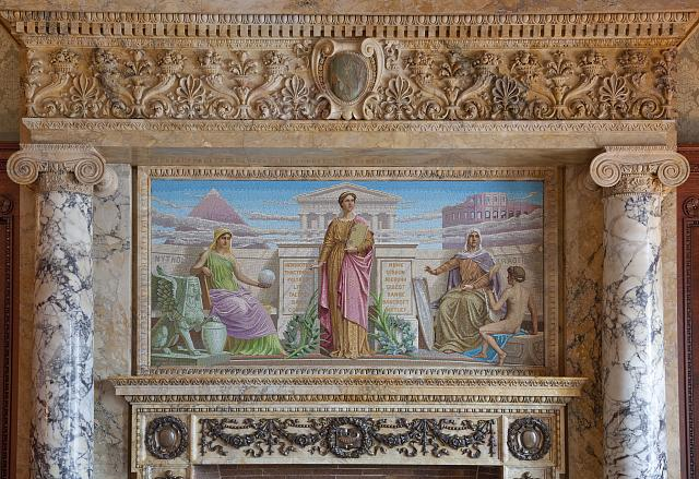 [House Members Room. Mosaic entitled History by Frederick Dielman. Library of Congress Thomas Jefferson Building, Washington, D.C.]