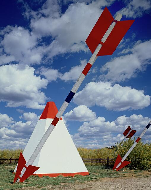 Teepees (Tipis) and arrows at the Hogan Indian arts and crafts post in Mancos, Colorado