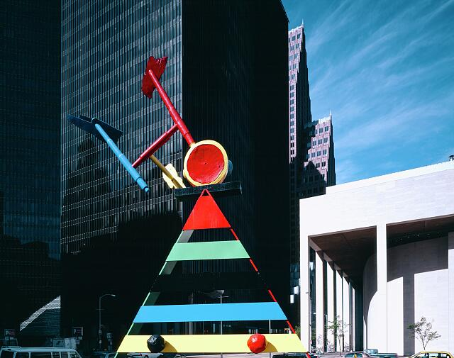 Joan Miro's Personage and birds sculpture, Houston, Texas