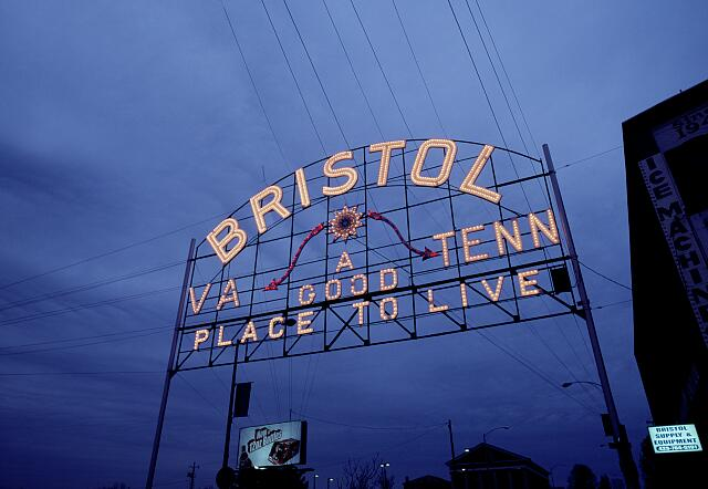 Sign, Bristol, Virginia-Tennessee border