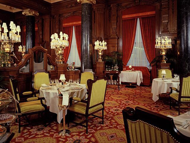 Historic view of the Willard Room Restaurant located in the Willard Hotel, Washington, D.C.