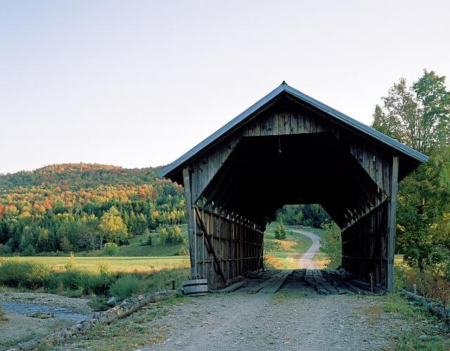 Covered bridge in rural Vermont