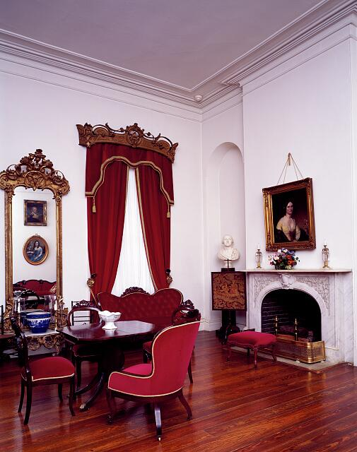 Parlor at Arlington House, Robert E. Lee's house at Arlington Cemetery, Arlington, Virginia