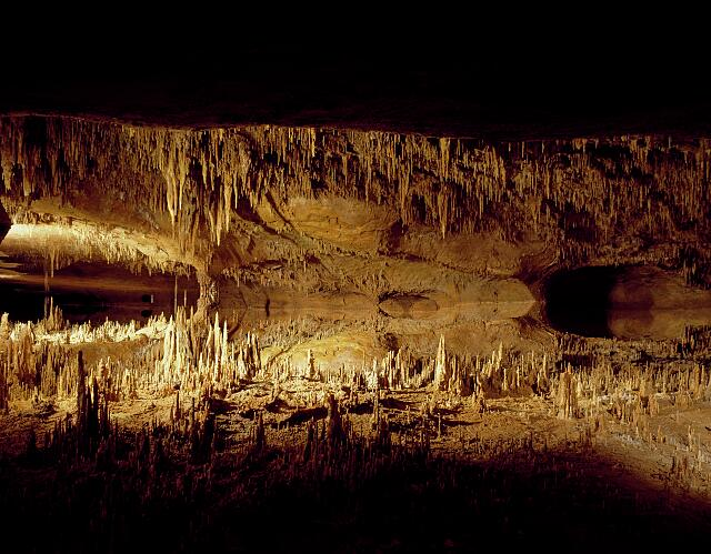 Luray Caverns, originally called Luray Cave, is a large, celebrated commercial cave just west of Luray, Virginia