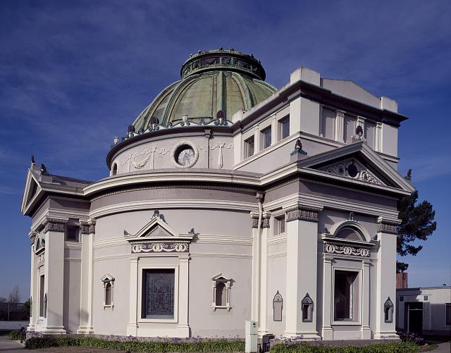 Columbarium, or a place for public storage of urns containing human remains, in San Francisco, California