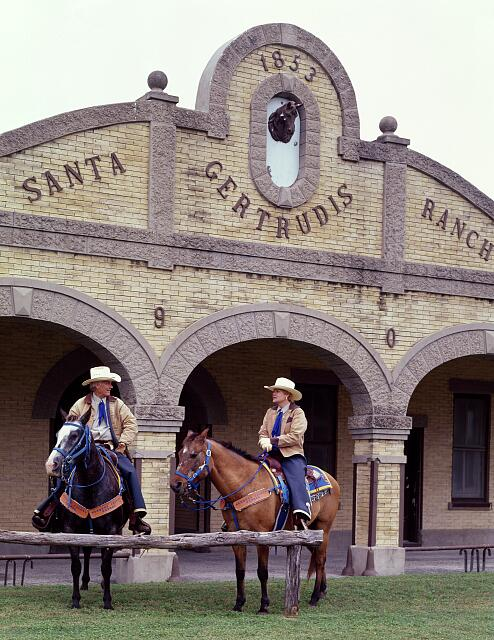 Riders at the King Ranch, which is larger than Rhode Island, near Kingsville, Texas