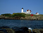 "Maine's 1877 cast-iron Cape Neddick Light better known as the ""Nubble"" Lighthouse"