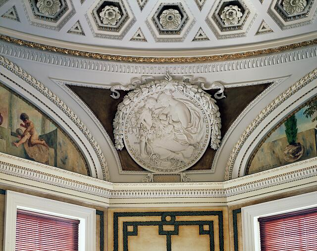 [Second Floor, Northwest Pavilion. Circular relief of Autumn by Bela L. Pratt. Library of Congress's Jefferson Building, Washington, D.C.]