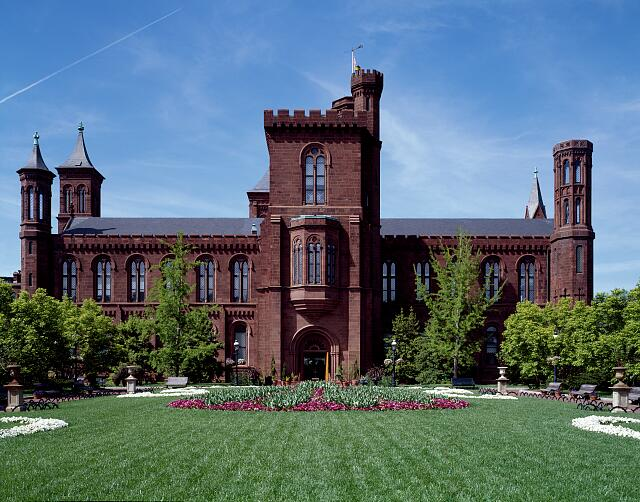 "Smithsonian Insitution ""Castle,"" its first building on the National Mall when the institution was simply called the ""National Museum."" Washington, D.C."