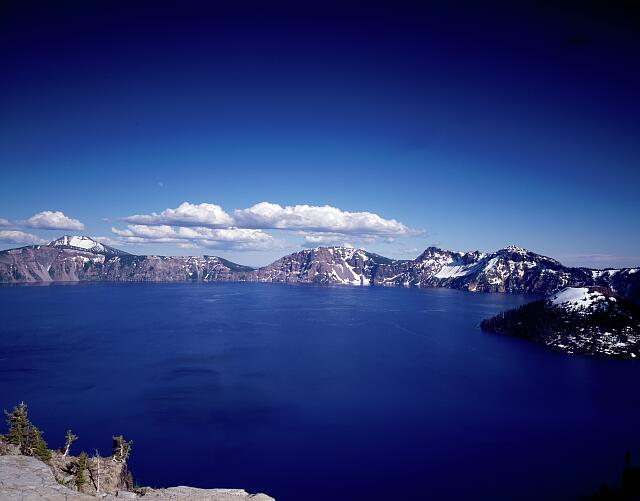 Crater Lake, Oregon, one of the world's deepest and clearest tourist attractions