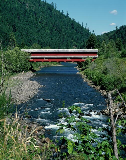 Office Bridge (also called Westfir Covered Bridge) is a covered bridge in Westfir, Lane County, Oregon