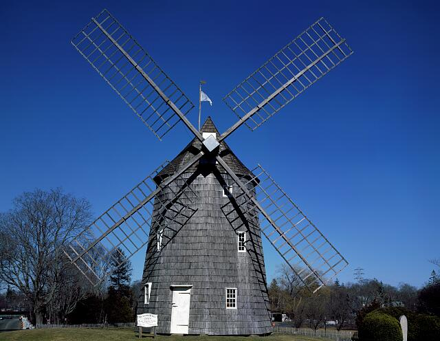 Old Hook Mill in the Hamptons on Long Island, New York