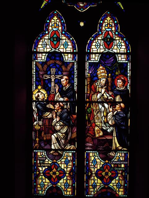 Stained glass windows in St. Dominic Church in southwest Washington, D.C.