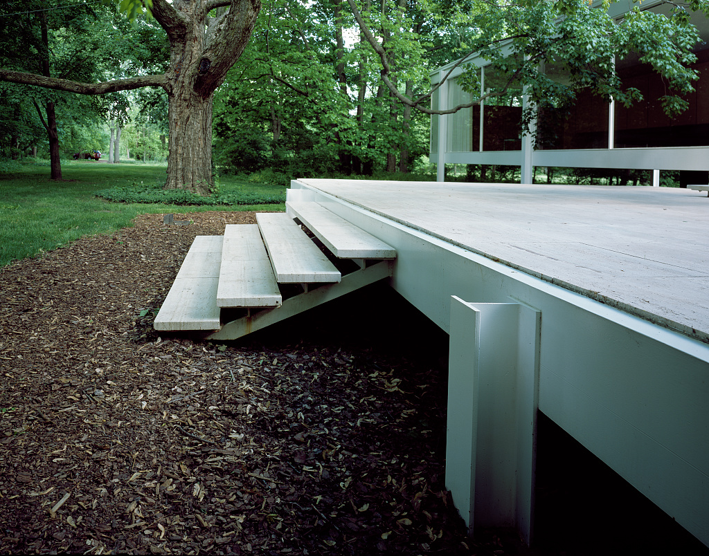Farnsworth House designed and constructed by modernist architect