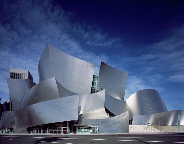 Modernist architect Frank Gehry's Walt Disney Concert Hall, Los Angeles, California