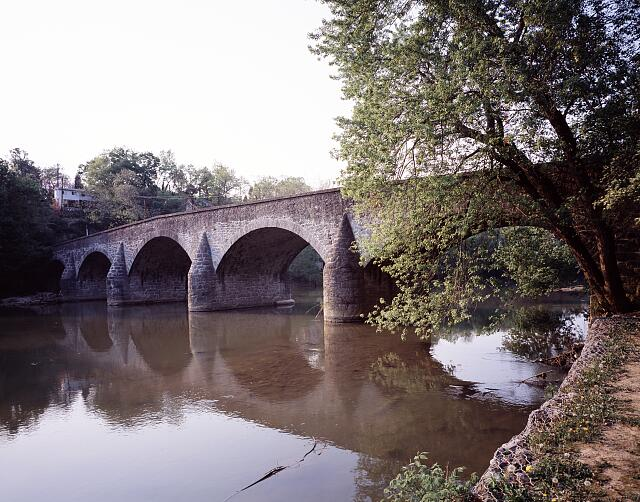 Wilson Bridge, completed in 1819 over Conococheague Creek, Wilson, Maryland