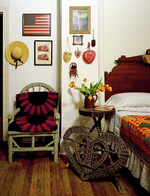 Wicker or rattan furniture scene