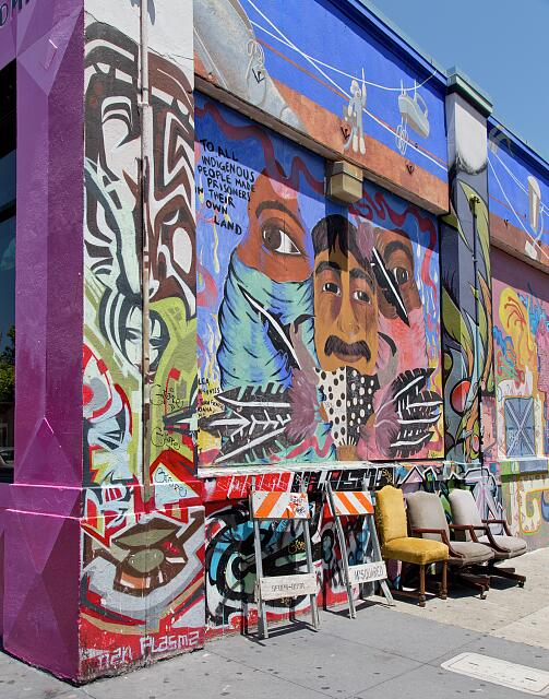 Murals in the Mission District of San Francisco, California