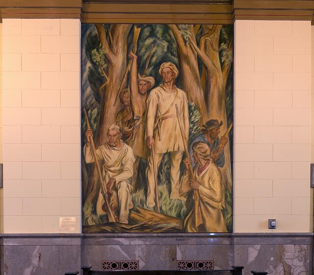 Courtroom mural at the U.S. Post Office & Court House, Lexington, Kentucky