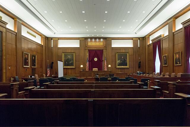 Courtroom. Potter Stewart U.S. Post Office and Courthouse, Cincinnati, Ohio