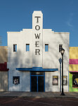 The Tower Theatre in Lamesa, the seat of Dawson County, Texas
