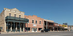 A downtown block in Albany, Texas, the seat of Shackelford County