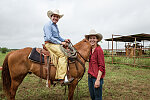 The husband-and-wife, cowboy-cowgirl team of Lars Hollis and Lacey Elick Hollis at the 1,800-acre Lonesome Pine Ranch, a working cattle ranch that is part of the Texas Ranch Life ranch resort near Chappell Hill in Austin County, Texas