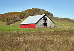 Old, but well maintained, barn near Crawley in Greenbrier County, West Virginia