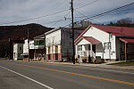 Streetscape in the tiny settlement of Durbin, near the headwaters of the Greenbrier River in Pocahontas County, West Virginia