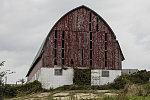 An airy barn, airy because of the missing boards in the abandoned structure, in Eau Claire County, Wisconsin