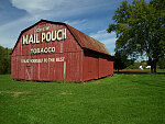 "A ""Mail Pouch Barn"" in Stark County, Ohio, near Brewster, featuring one of the hundreds of painted advertisements for the chewing tobacco that appeared throughout the American South and Midwest in the late-18th and early-20th centuries"