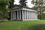 An impressive mausoleum at the 733-acre Spring Grove Cemetery and Arboretum in Cincinnati, Ohio, the second- largest cemetery in the United States, behind Calverton National Cemetery in New York City