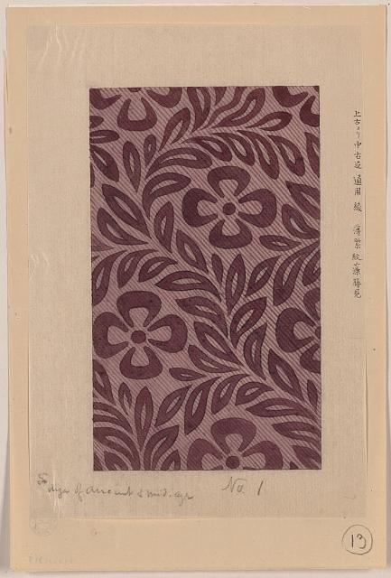 [Textile design with flower motif]