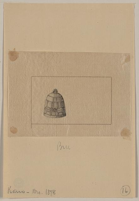 [Beehive-shaped metalwork object]