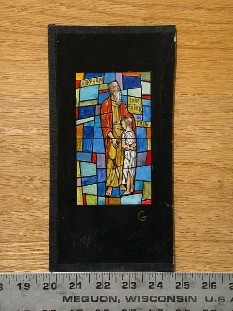 """[Design drawing for stained glass window """"Abraham, Our Father in Faith""""]"""