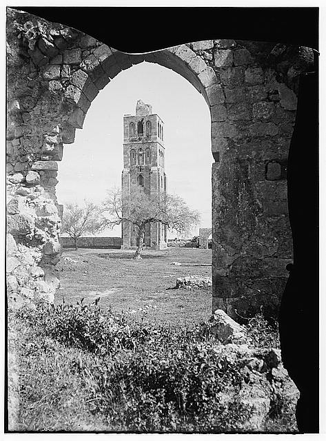 Jaffa to Jerusalem. Tower of the Forty Martyrs, Ramleh
