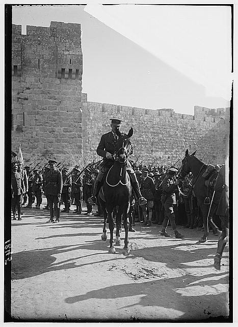 Entry of Field Marshall Allenby, Jerusalem, December 11, 1917. Field Marshall Allenby at the Jaffa Gate